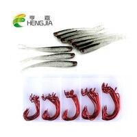HENGJIA de goma suave señuelos de pesca de plomo jig head ganchos pesca aparejos de pesca