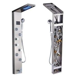 Image 5 - ULGKSD colonne de mélange, cascade LED panneau de douche de pluie, salle de bains, douche robinet Jets de Massage, baignoire douche, robinet Para maison et Bar