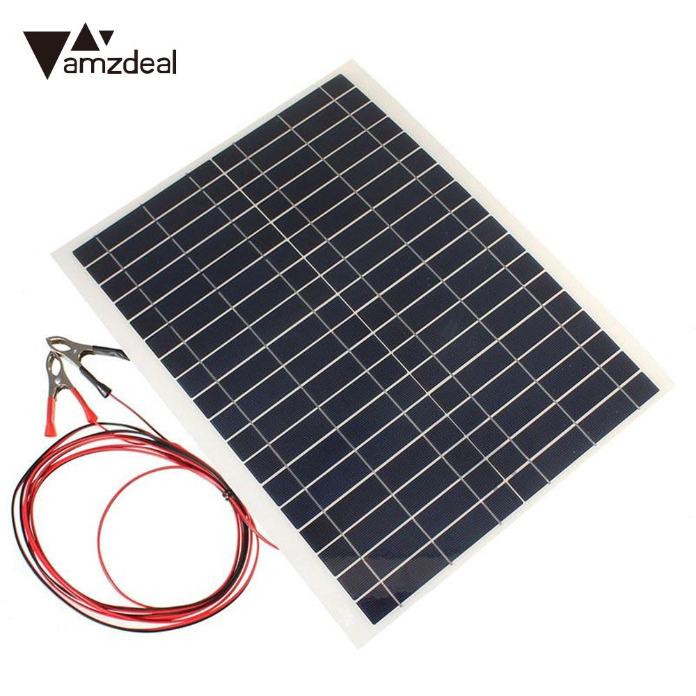 Amzdeal Portable Outdoor 20W 12V Charger Kit DIY Foldable Solar Panel Electronic Element Camping Solar Cells Phone Charging