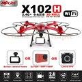 MJX X102H RC Drone С C4018 и SJ7000 14MP 1080 P Full HD Wi-Fi Камера FPV Quadcopter Поддержка Gopro/SJCAM/XIAOYI Одним Из Ключевых Возвращения