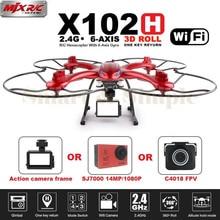 MJX RC Drone Con C4018 X102H y SJ7000 14MP 1080 P Full HD WiFi Cámara Soporte FPV Quadcopter Gopro/SJCAM/XIAOYI Una Tecla de Retorno