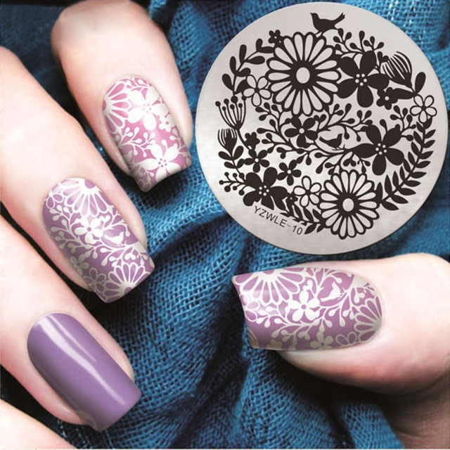 Nail Art Stamping Stamp Template stainless steel Figure Image Plates ...