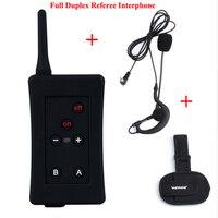 Vnetphone fbim Беспроводной полный дуплекс Футбол судья гарнитура 1200 м Bluetooth судья домофон Communicator домофон