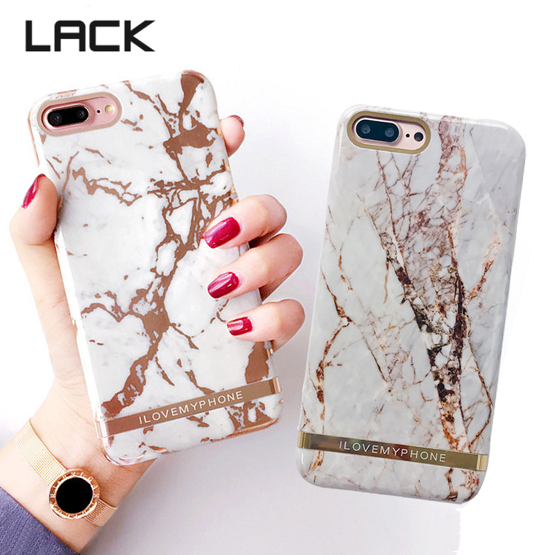 sports shoes d645a 1c86a LACK Luxury Glossy Marble Phone Case For iphone 8 8Plus Rose Gold ...