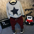 Baby Clothes Baby Boy Clothing Sets Christmas costumes for boys plus velvet striped T-shirt + pants two piece sets sport suit