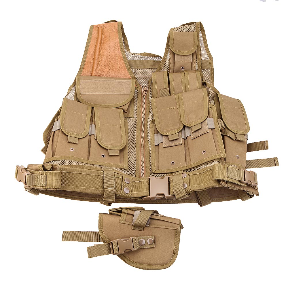 Hunting Equipment SWAT Airsoft Paintball Tactical Hunting Combat Assault Vest Outdoor Training Waistcoat Army Safety Clothing tactical hunting airsoft paintball hunting combat assault vest outdoor training hunting waistcoat military vest safety clothing