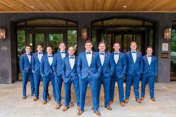 Custom Royal Blue Tuxedo Wedding Suits Slim Fit Men Suits 2 Piece Groomsmen Prom Suits Men Blazers Terno Masculino