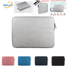 Laptop waterproof Sleeve Bags for Macbook air 13 11 pro Retina 12 15 inch Notebook Cover for Lenovo 14 15.6 13.3 case zipper bag(China)