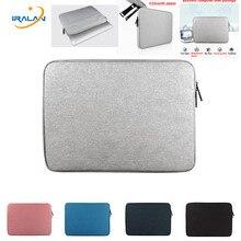 Na laptopa wodoodporny pokrowiec torby dla Macbook air 13 11 pro Retina 12 15 cal Notebook pokrywa dla Lenovo 14 15.6 13.3 case torba na zamek błyskawiczny
