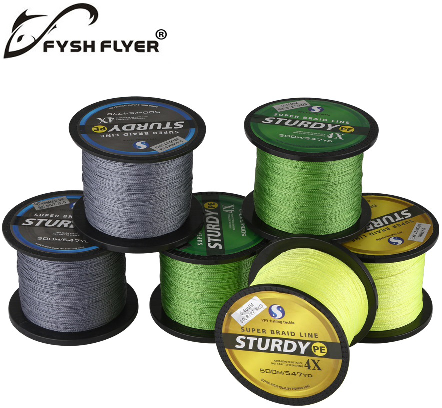 Buy 500m brand superpower 4 strands for 20 lb braided fishing line