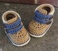 Meninos sapatinhos, Meninos sapatos de crochê bebê Cairo botas, Crochet bebê presente do chuveiro de bebê tamanho : 9 cm, 11 cm