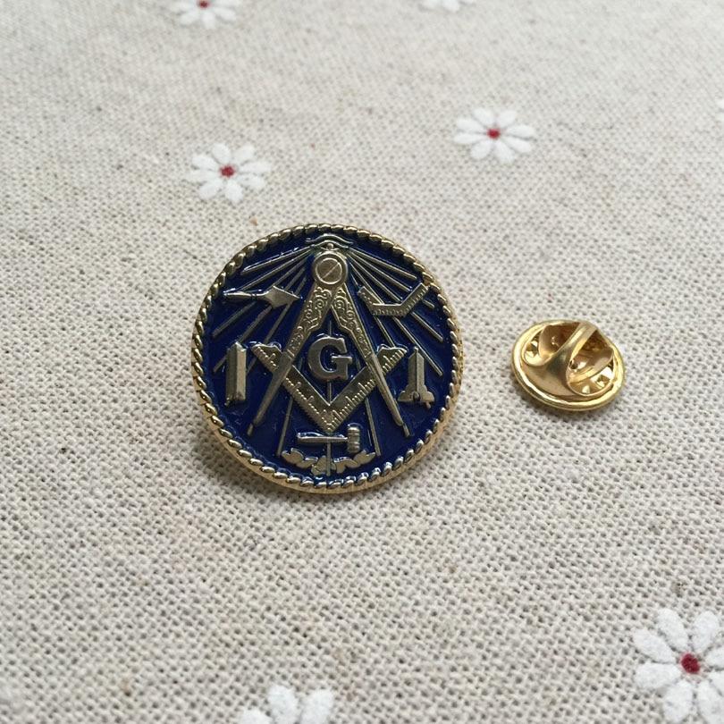 100pcs wholesale custom make masonry brooch and pin freemasonry masonic lapel pin badges Working Tools Freemason