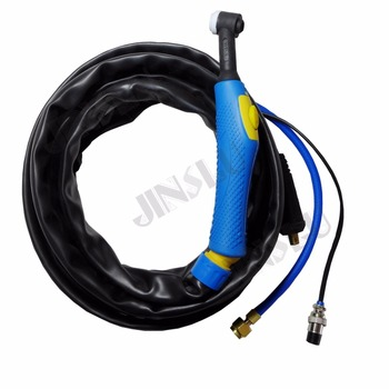 WP9 WP-9 Air Cooled Argon Tig Welding Torch Bule Handle 4M Gas And Separate 10-25 Cable Plug free shipping wp9 wp 9 air cooled argon tig welding torch bule handle 4m gas and separate 10 25 cable plug