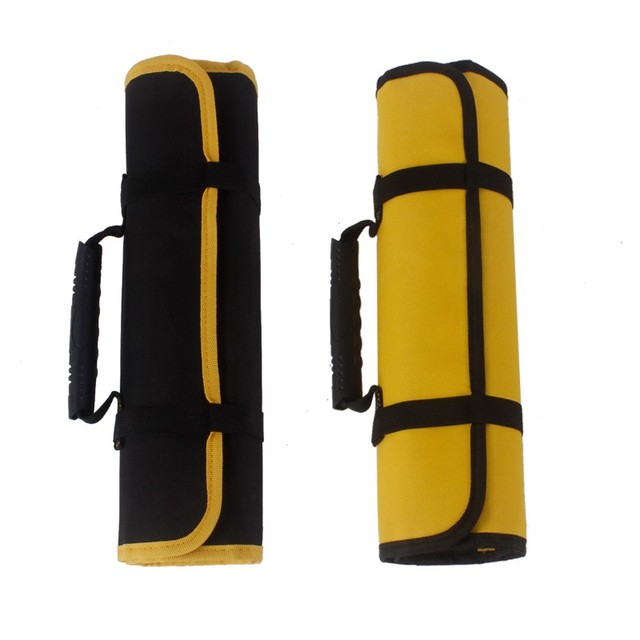 Multi-function Tool box Bag reel type Woodworking Electrician repair canvas portable storage instrument Case