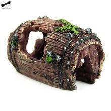 Аквариум Искусственный бочонок смолы пещера-украшение ландшафтное украшение G3615
