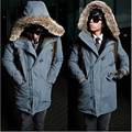 Winter Jacket Men Fur Collar Hooded Jacket Parka Coats Military Clothing Warm Overocats Parkas New
