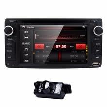 Автомобиль в тире стерео 2din GPS dvd-плеер навигации Радио Поддержка bt/SWC/камера заднего вида/сабвуфер Fit для Toyota с СВЕТОДИОДНЫЙ Резервного копирования Cam
