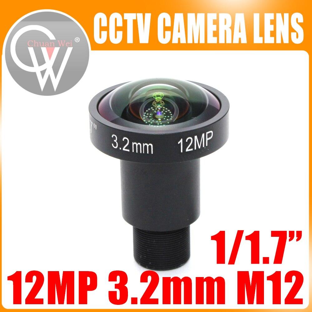 12Megapixel (4K Lens) Fixed M12 Lens 3.2mm Fisheye lens 160 Degree For 4K IP CCTV camera or 4K Sport Action DV 4k lens 8megapixel fixed m12 small lens 1 2 5 inch 4mm 100 degree for sony imx274 imx317 imx179 4k ip cctv camera free shipping