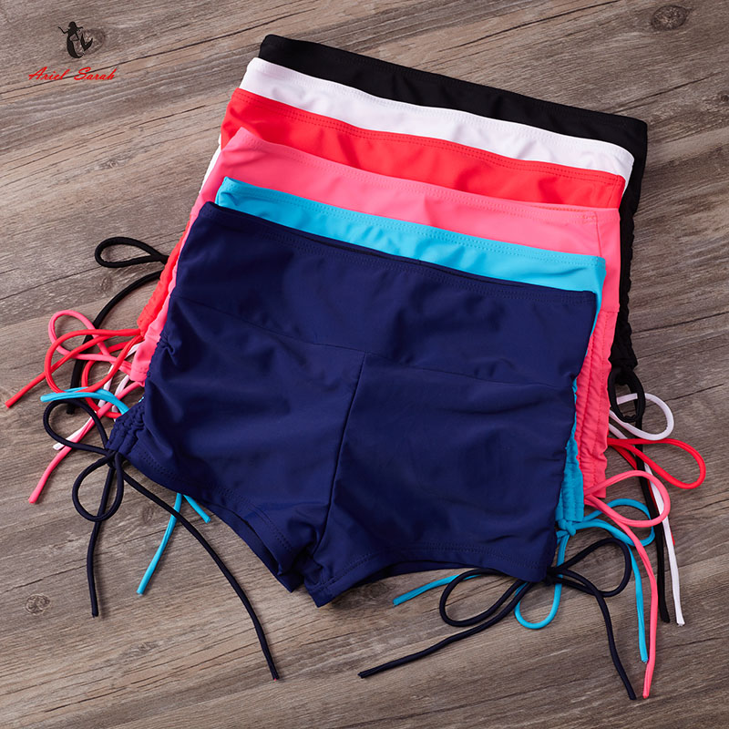 Ariel Sarah 2017 Solid Quick Dry Beach Underwear Swimwear Swimsuit Women Bottom Sexy Bikini Panties Bathing Suit Shorts Q276