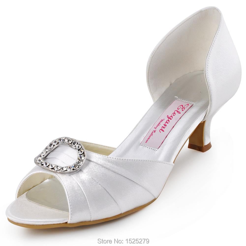 HP1630 Women Shoes Bride Bridesmaids Open Toe Prom Pumps High Heels Rhinestone Buckles Pleat Satin Wedding Bridal Shoes