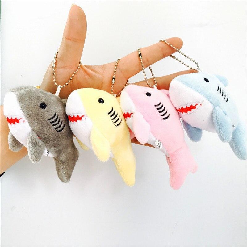 Kawaii 12CM  Key Chain Gift Shark Plush Stuffed TOY DOLL Kid's Small Mini Plush Toys Kawaii Plush