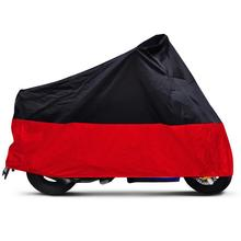 Black Red L Large Size Breathable Motorcycle Cover Waterproof UV Rain Resistant Outdoor Motorbike Touring Scooter
