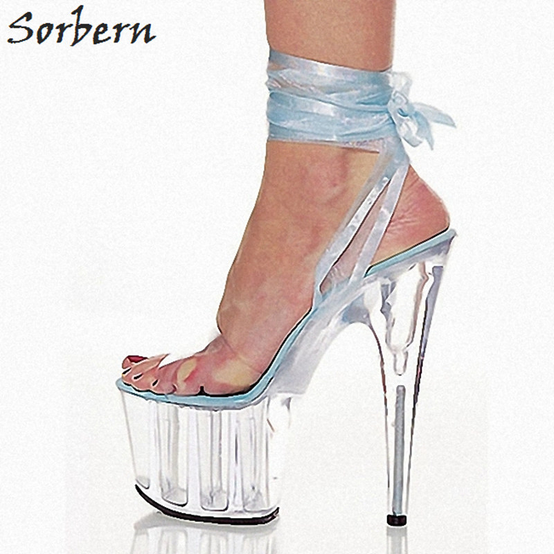 Sorbern Light Blue Ankle Strap Sandals