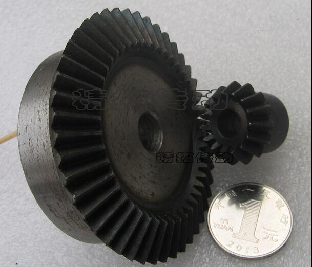 2PCS 2M 15T 45T Bevel Gear 15 teeth 45 teeth 2 Mod Ratio 1:3 Steel Right Angle Transmission parts machine DIY