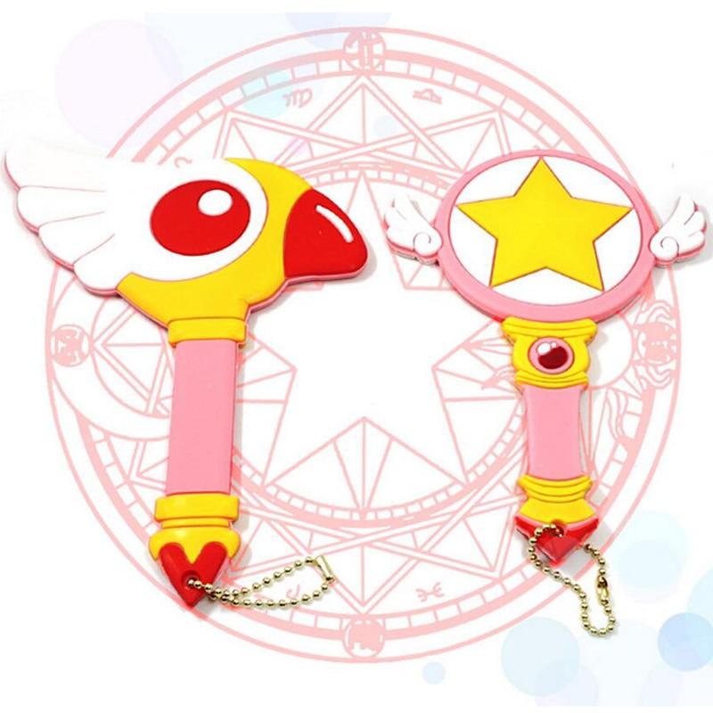 Anime Sailor Moon Circle Star Mirror Case Cosmetic Make Up Mirror Cosplay Cardcaptor Sakura Magic Wand Birdhead Mirror Best Gift