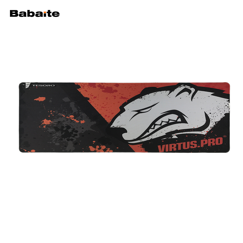 2017 Babaite Cool Mouse Pad Pc Computer Laptop Gaming Mice Play Mat Mousepad For Large Game Virtus Pro Logo Design Mousemat  stitched edge rubber cs go large gaming mouse pad pc computer laptop mousepad for apple logo style print gamer speed mice mat