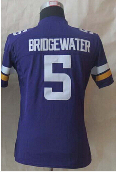 #5 Teddy Bridgewater Jersey,Women Football Jersey,Best quality,Size S--XXL,Accept Mix Order