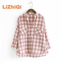 Small Fresh Women S New Arrival Long Sleeve Turn Down Collar Single Breasted Pocket All Match