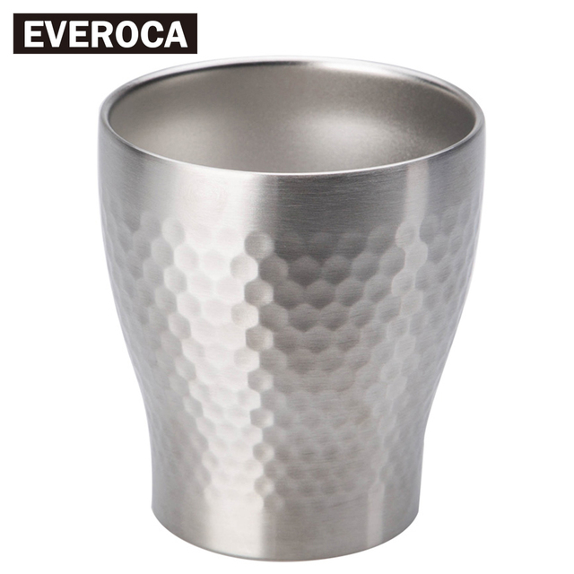 Stainless Steel Double Layer Cup Vacuum Thermal Retardation Beer Juice HoneyComb