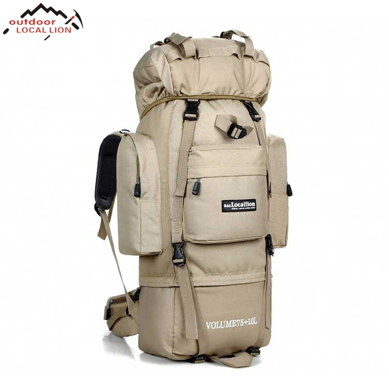 Locallion Big Men's Sports Bag 85L Outdoor Waterproof Travel Backpack Military Male Climbing Hiking Camping MOLLE Tactical Bag sports travel airsoft tactical knapsack camping climbing backpack 600d nylon hiking hunting vintage military bag camouflage