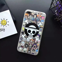 3D relief matte Printing cartoon ONE PIECE Luffy pattern PC hard cover phone case for iphone 5 5s 5G 6 6s S 7 8 plus cases