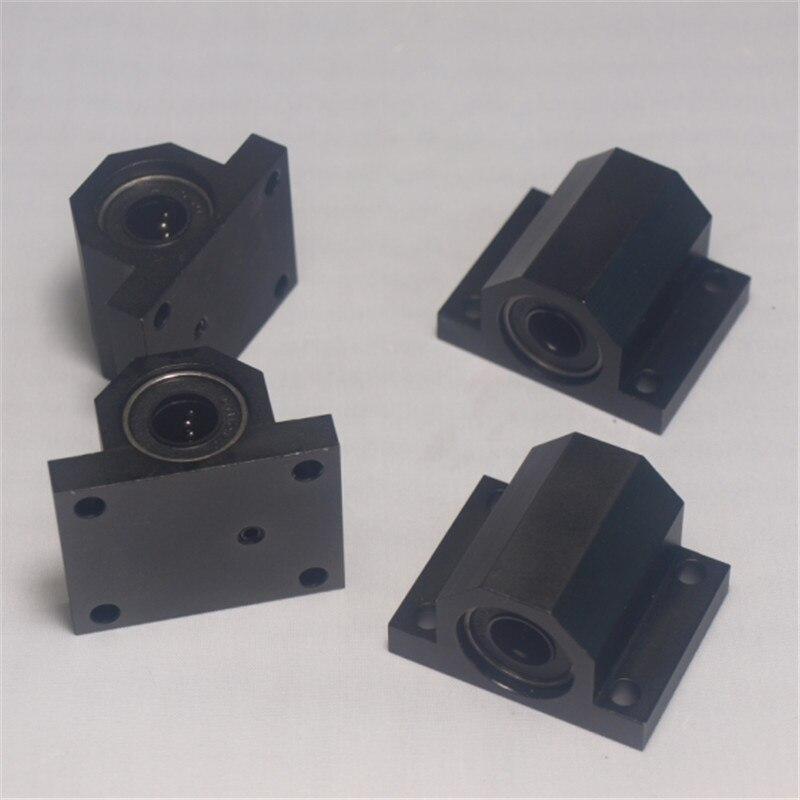 Funssor 4 pcs metal aluminum alloy bed frame Y axis table bed frame bearing holder kit For Lulzbot TAZ 3D printer upgrade