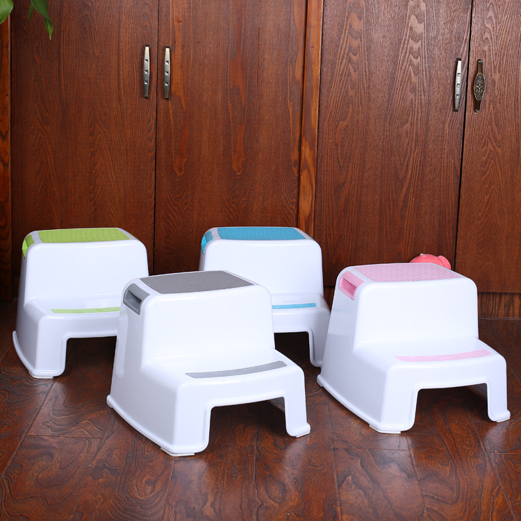 2 Step Stool Toddler Kids Stool Toilet Potty Training Slip Resistant For Bathroom Kitchen QP2