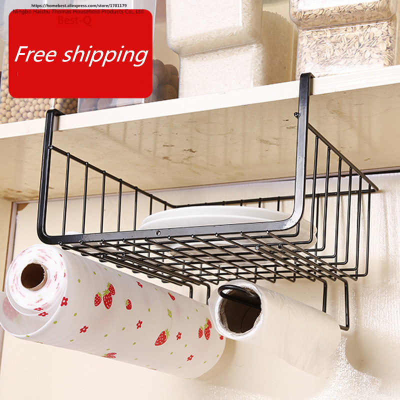 Free shipping closet shelf storage rack layered storage rack hanging basket shelf rack dormitory kitchen cabinets storage rack