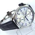 fashion watch Silver dial 43mm PARNIS energy shows that automatic mechanical men's watch Classic watches