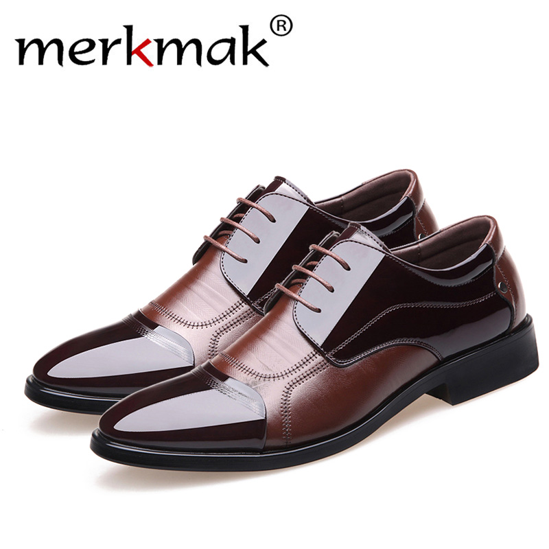 Merkmak nueva moda Primavera de Oxford de los hombres de negocios zapatos de cuero genuino de alta calidad suave transpirable Casual pisos de los hombres Zip zapatos