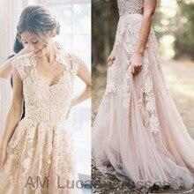 Luxury A Line Wedding Dresses 2017 Bridal Dress Appliques Tulle Party Gowns Fairytale Princess Robe De Mariage