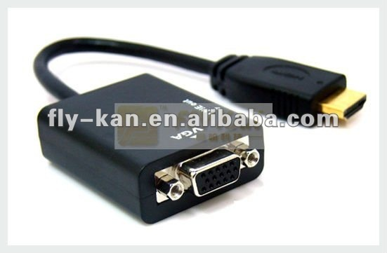 Free Shipping 10pcs/lot HDMI to VGA adapter with audio output, HD2V01