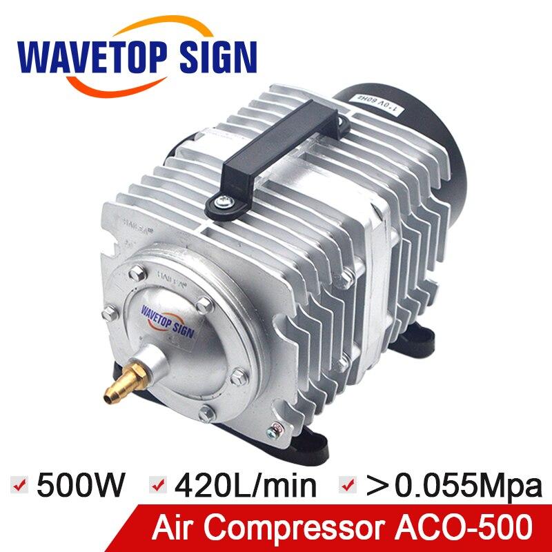ACO-500 500 W 420L/min électrique magnétique Aquarium compresseur d'air avec séparateur d'air pour Aquarium hydroponique aérateur 26 sortie
