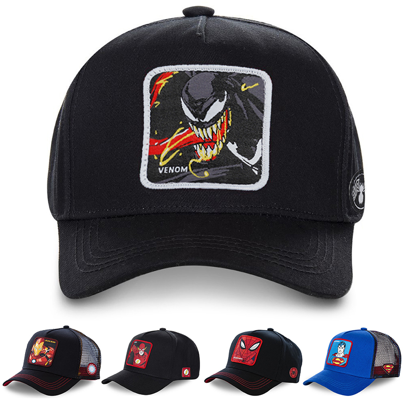 2019 New Venom Embrodered Cap High Quality Fashion Baseball Caps Adjustable Hip Hop Patch Embroidery Mesh Hat Men Women Hats(China)