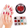 12pot/set Natural Jade Gravel Rhinestone Nail Art Mix Crushed Crystal Stone Nail Art Slices Manicure DIY Decorations