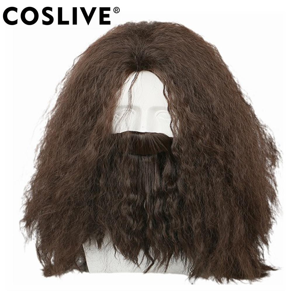 Hagrid Curly Harry Potter pelo de Cosplay con barba Disfraz de - Disfraces