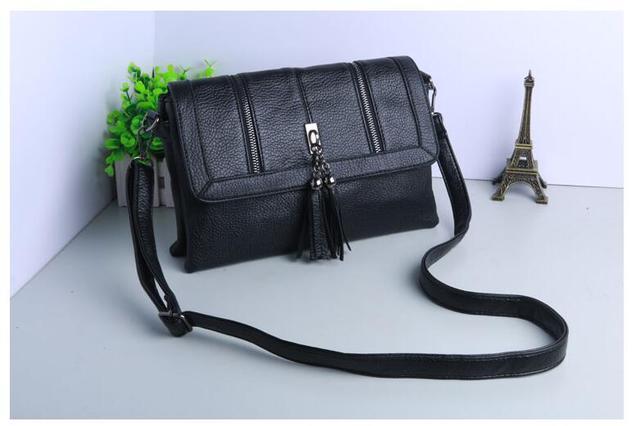 2017 Tassel Women Messenger Bags Famous Brand Small Crossbody Bag For Women Black Luxury Handbags Women Bags Designer