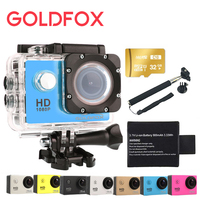 Goldfox 1080P Full HD Action Camera 12MP 30M Diving Go Waterproof Pro Sport Dv Outdoor Bike