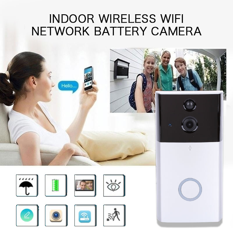 Door Phone Ring Bell with Indoor Chime Video Camera Sensitive DoorBell Night Vision Surveillance Waterproof Drop Shipping