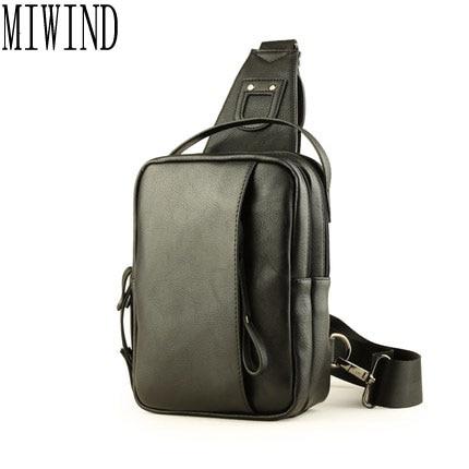 MIWIND 2017 nouvelle marque hommes poitrine Pack petit sac à main en cuir Messenger sac unique épaule bandoulière sacs TGB606